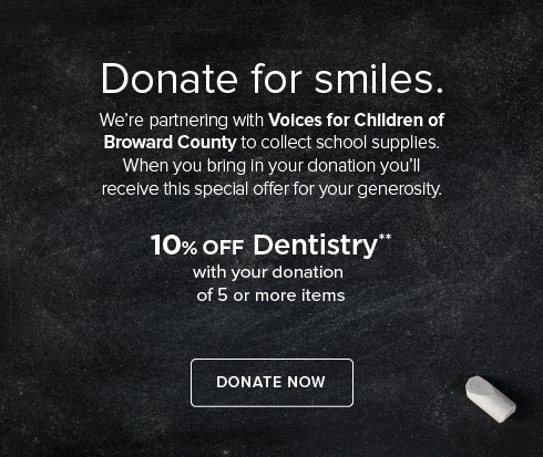Fontainebleau Dentistry - Donate to Voices for Children  of Broward County
